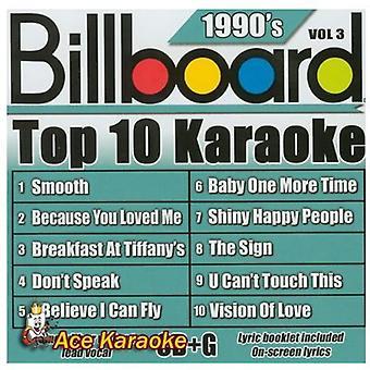 Billboard Top 10 Karaoke - Vol. 3-90's-Billboard Top 10 Karaoke [CD] USA import