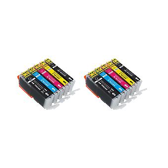 RudyTwos 2x Replacement for Canon PGI-570XL CLI-571XL Set Ink Unit Black Cyan Magenta & Yellow(Extra High Yield) Compatible with Pixma MG5700, MG5750, MG5751, MG5752, MG5753, MG6800, MG6850, MG6851, M