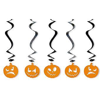 5 Decorações de festa de Halloween do Redemoinho de Abóbora Pendurada