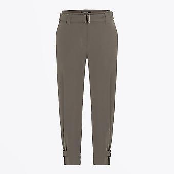 Cambio  - Koko - Trouser With Buckle Detail - Khaki Green