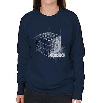 Rubik's Drawn Cube Women's Sweatshirt