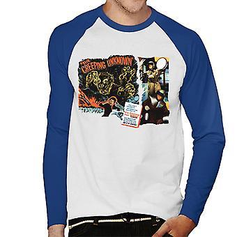 Hammer Horror Filme Quatermass Kriechen unbekannte Männer's Baseball langärmelige T-Shirt