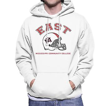 East Mississippi Community College Dark Helmet Men's Hooded Sweatshirt