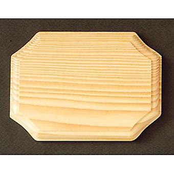 18cm Octagon Chunky Solid Pine Wooden Plaque à décorer pour l'artisanat