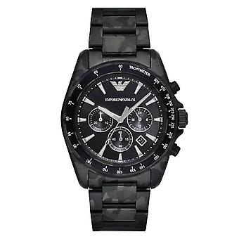 Armani Watches Ar11027 Black Camo Stainless Steel Men's Chronograph Watch