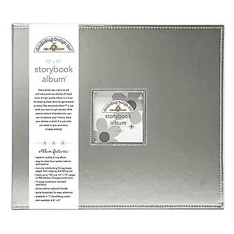 "Doodlebug Storybook D-Ring Album 12""X12"" - Silver"