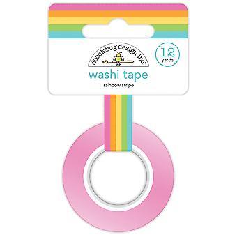 Doodlebug Design Rainbow Stripe Washi Tape