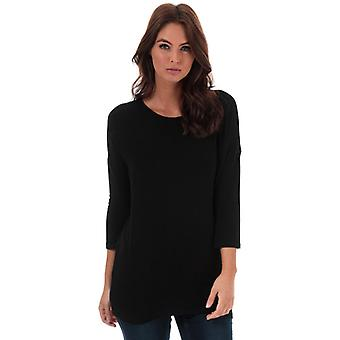 Women's Only Glamour 3 Quarter Sleeve Jumper in Black