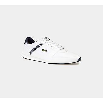 لاكوست مينيرفا الرياضة الاصطناعية المدربين الأبيض / أحذية رجال البحرية الأحذية