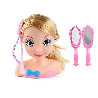 LAUREN Deluxe Styling Head Doll Docka Med Kam Och Spegel 20cm