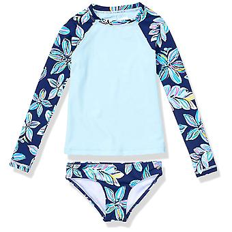 Kanu Surf Big Girls' Long Sleeve Rashguard Two Piece Swim Set, Charlotte Navy...