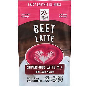 Hana Beverages, Beet Latte, Non-Coffee Superfood Beverage, 16 oz (454 g)