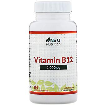 Nu U Nutrition, Vitamin B12, 1,000 µg, 180 Vegetarian Tablets