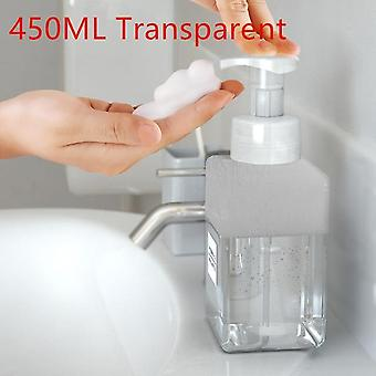 Pump Empty Square Foaming Soap Plastic Clear Bottle & Liquid Shower Gel Foam Pump