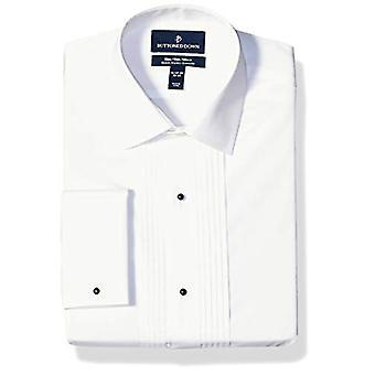العلامة التجارية - Buttoned Down Men & apos;s Slim Fit Easy Care Bib-Front Spread-Collar ...
