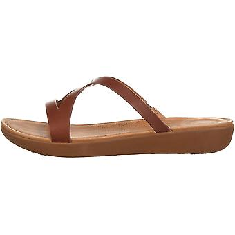 FitFlop Women's Shoes Strata slide Leather Open Toe Mules