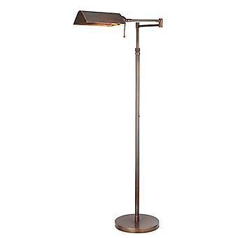 Interieurs Clarendon - 1 Leichte Aufgabe Stehlampe tief antik Patina, E27
