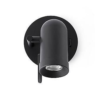 1 Luce Indoor Regolabile Parete Spotlight Nero, GU10