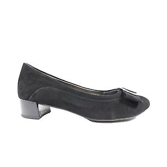 Caprice 22302 Black Suede Leather Womens Court Shoes