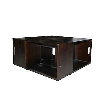Rebecca Furniture Table Square Table Dark Wood Country Cassette 39.5x80x80