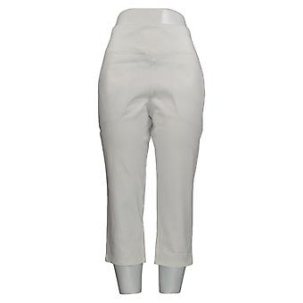 Wicked by Women with Control Women's Petite Jeans Cropped White A377553