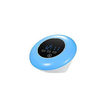 Multifunctionnal Touch Screen LED Mirror Temperature Clock Blue