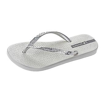 Womens Ipanema Flip Flops Glam Beach Sandals - Silver