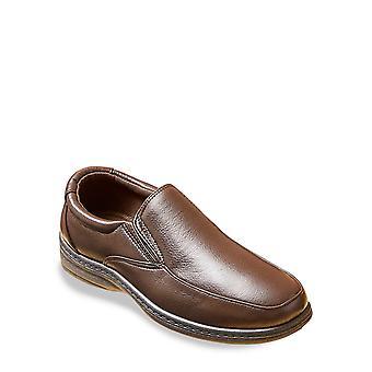 Dr Keller Mens Dr Keller Wide Fit PU Slip On Flexisole Shoe