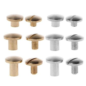 Brass Chicago Screws Posts Belt Button For Leather Bookbinding Crafts