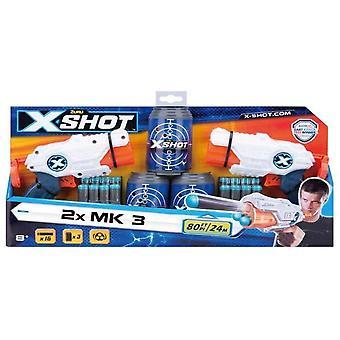Zuru X Sköt Dubbel MK 3 Skum Dart Blaster Combo Pack -16 Dart 3 Burkar