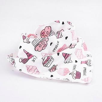 Baby Bibs Waterproof Triangle Cotton Cartoon Enfant Bandana Dribble Nouveau-né