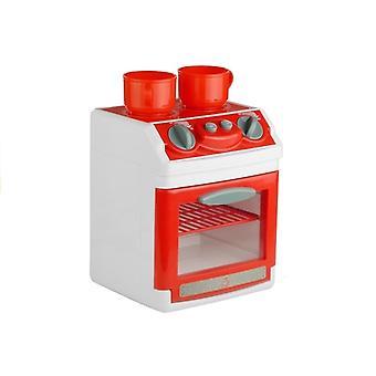 Fornhuis a gas giocattolo e oltre - Con padelle e posate - Bianco e Rosso