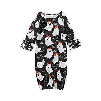 Kids Baby Girl Ghost Long Sleeve Sleepwear Nightgowns Sleeping Bag