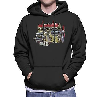 Austin Healey Side View Of Engine British Motor Heritage Men's Hooded Sweatshirt