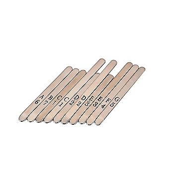 Silver 10 Keys Hardware Parts Accessories Karimba Thumb Piano for Karimba