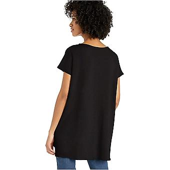 Brand - Daily Ritual Women's Supersoft Terry Dolman-Sleeve V-Neck Tunika, Sort, X-Small