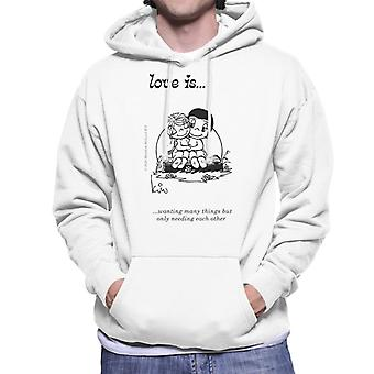 Love Is Wanting Many Things But Only Needing each Other Men-apos;s Sweatshirt à capuchon