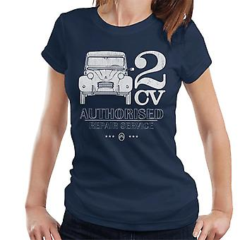 Citro?n 2CV Authorised Repair Service White Logo Women's T-Shirt