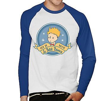 The Little Prince Christmas Let It Snow Le Petit Prince Men's Baseball Long Sleeved T-Shirt