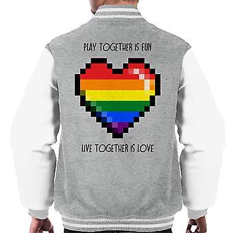 Gamer Love Play Together Is Fun Men's Varsity Jacket