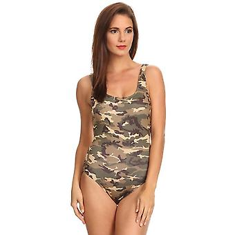 Women's 1-piece Camo Bikini Camouflage Swimwear