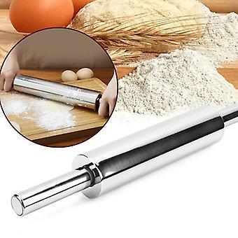 Non-stick Stainless Steel Rolling Pin, Pastry Dough Flour Roller, Kitchen