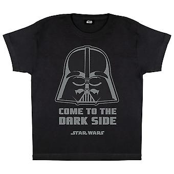Star Wars Vader Come To The Dark Side Boys T-Shirt | Official Merchandise