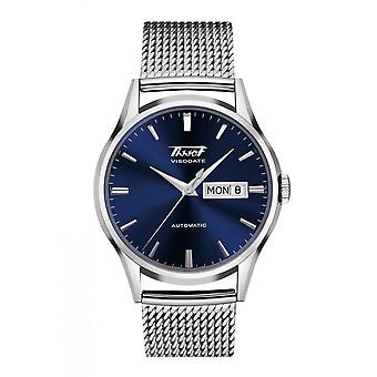Tissot T0194301104100 Heritage Visodate Automatic Blue and Silver Mesh Men's Watch