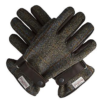 Walker and Hawkes - Mens Scottish Harris Tweed Leather Gloves