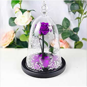 Preserved Flower Finished Glass Cover Rose Christmas Valentine's Day Gift
