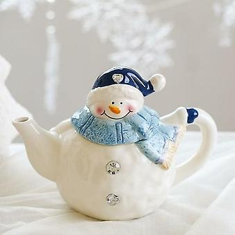 Christmas Ceramic Ornaments And Snowman Tableware