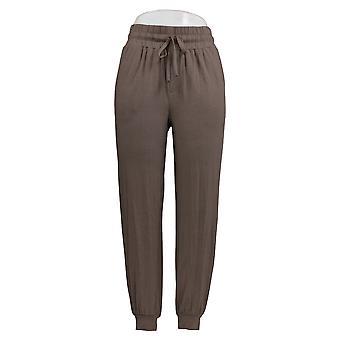 Chiunque donna pantaloni accogliente maglia jogger stile marrone A275081