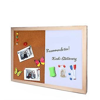 Pine Wood Combinatie Half Whiteboard Half Corkboard, Bulletin Message Boards