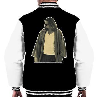 Iso Lebowski The Dude kylpytakissa Men's Varsity Jacket